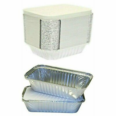 2000 X TAKEAWAY FOOD CONTAINERS ALUMINIUM FOIL FOOD CONTAINERS + LIDS No2 / No6A