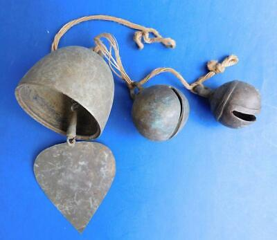 Mixed hang of Antique Crotal and Wind Chime Bells 1800s