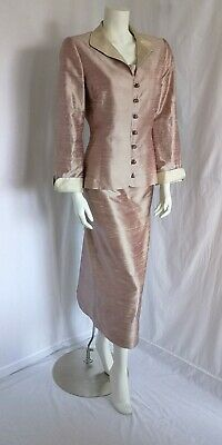 Paule Vasseur Mother Of The Bride /Groom 3 Piece Outfit Size 40 Uk 10