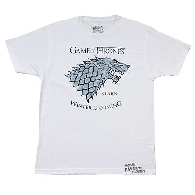 Game Of Thrones Stark Winter Is Coming Licensed Adult T-Shirt