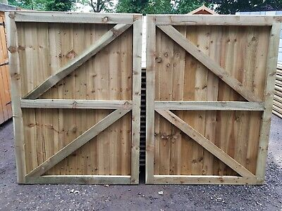 Custom Driveway Gates Heavy Duty Fully Framed Treated Garden Gate Rapid Delivery