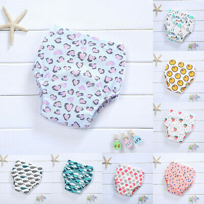 Baby Cotton Underwear Toilet Potty Training Reusable Cloth Diaper Nappy Pants