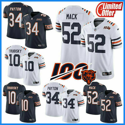 2019🔥Men's Chicago Bears #52 Khalil Mack 100th Season Stitched Limited Jersey