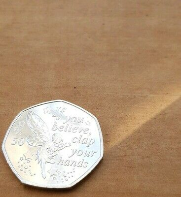 Tinkerbell 50p Manx coin - 2019 UNC - Peter Pan collection.