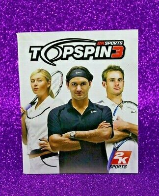 Instruction Booklet/Manual Only For Top Spin 3 Ps3 (No Game) 📮 Oz Seller