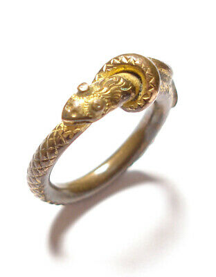 Beautiful Small Antique Georgian Snake Ring