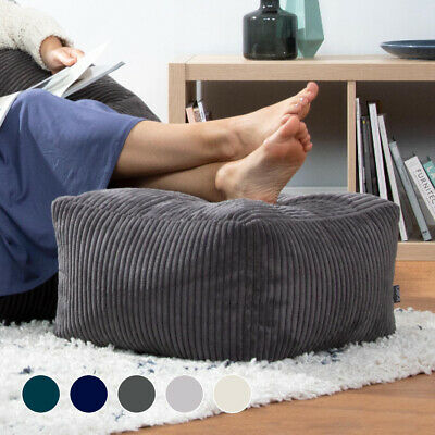icon Footstool Soul Cord, Square Bean Bag Pouffe