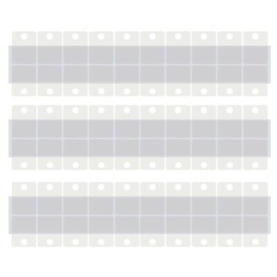 300pcs 1.5x1 Inch Pegboard and Slatwall Hook Tabs Adhesive Hanging Tags Clear