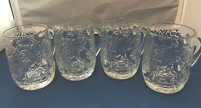 Princess House Clear Fantasia 9 Ounce Mugs Set of Four (4) Item #516