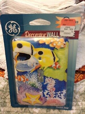 General Electric Decor Wall Plate, Aquarium, new, upc 043180547873
