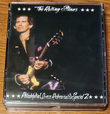 The Rolling Stones PHILADELPHIA (DRESS REHEARSALS) SPECIAL 2* 2-CD 1989 SODD