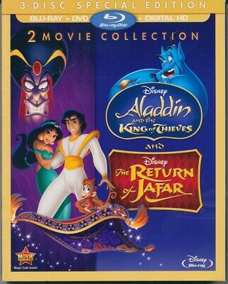 ALADDIN Sequels NEW SEALED Reg A 3-Disc BluRay WALT DISNEY MOVIE CLUB Free Ship!