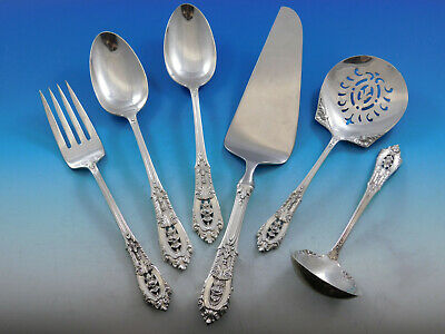 Rose Point by Wallace Sterling Silver Essential Serving Set Large Hostess 6-pc