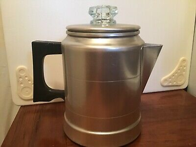 VTG  COMET Aluminum Stove Top Camping Percolator Coffee Pot : 5 cup