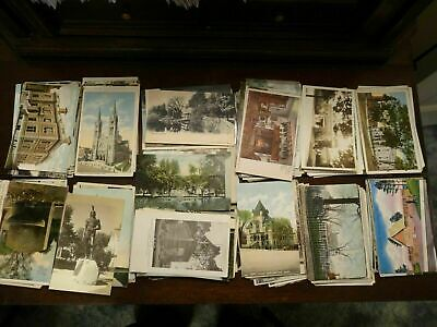 ~ LOT OF 100 + VINTAGE POSTCARDS ~ 1900s - 1960s , USA , POSTED & UNPOSTED * ~