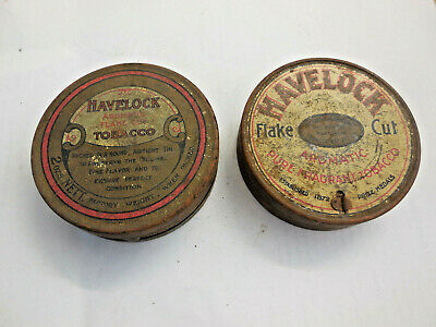A pair of vintage different Havelock tobacco tins
