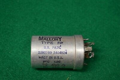 Mallory Multi-Section Twist Lock Audio Guitar Amplifier Electrolytic Capacitor