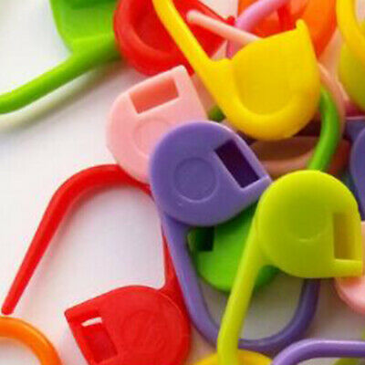 100PCS Solid Knitting Crochet Locking Stitch Needle Clip Markers Holder Tools N