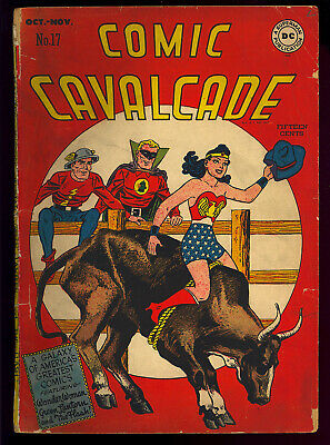 Comic Cavalcade #17 Wonder Woman Golden Age DC Comic 1946 FR-GD