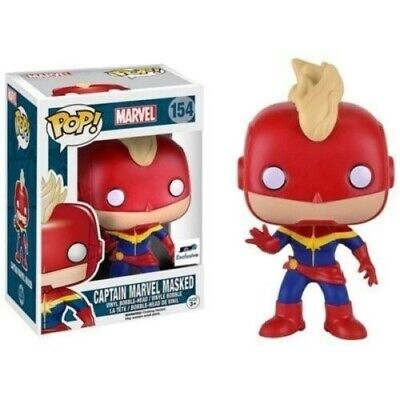 Funko POP! Marvel Captain Marvel Unmasked #154 Vinyl  GTS Exclusive MINT