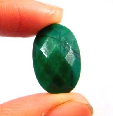 A++ Dyed Faceted Beryl Gemstone 10 ct 17x11mm W393