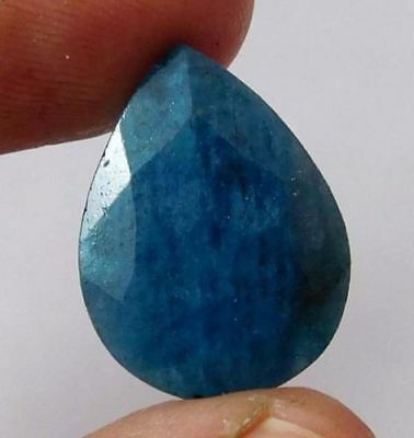 Dyed-Faceted-Blue-Sapphire-Gemstone 10.5 CT 18x13  AQ562