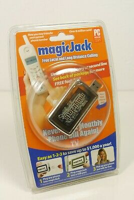 New Sealed Magic Jack Original USB VoIP Phone Jack As Seen On TV