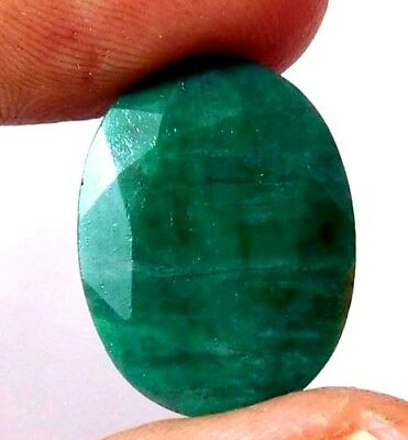 Dyed Faceted Emerald Cut Loose Gemstones 11.9 CT 18X14mm..  AQ673
