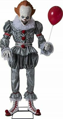 6 Ft  Halloween Life Size Animated Pennywise It Clown Prop  *Stephen King