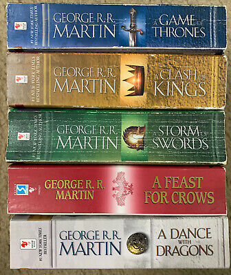 A Song of Ice and Fire Game of Thrones 5 PB Lot 1,2,3,4,5 George R. R. Martin