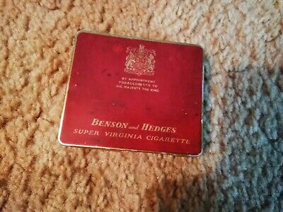 Benson And Hedges Super Virginia Cigarette Tin