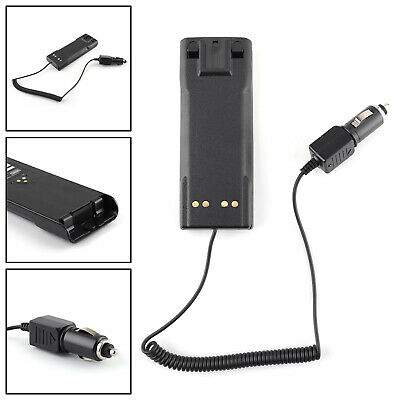 DC 12V/24V Car Charger Battery Eliminator Case For HT1000 Two Way Radio AU5