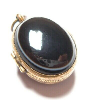 Beautiful Small Antique Victorian Banded Agate Locket