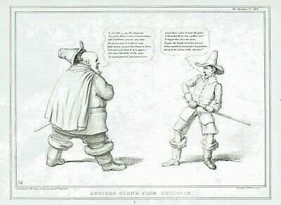 """Another Scene From Hudibras"" (Daniel O'Connell & S. Crawford) by J.Doyle 1837"