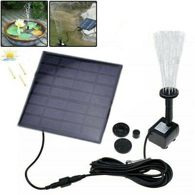 Outdoor Solar Powered Fountain Garden Pond Submersible 200L/h Water Pump Pool