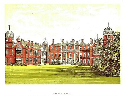 Cobham Hall, Near Gravesend, Kent - Seat of he Earl of Darnley - WB Eng. - c1865