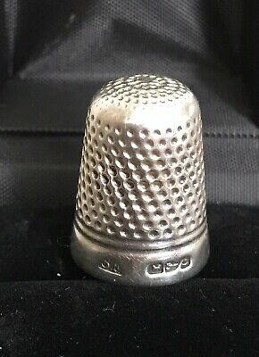 Antique Victorian Silver Thimble Chester Hallmark (Makers Mark S.F) 6.3g