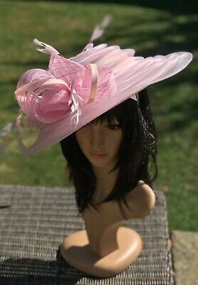 Peter Bettley Baby Pink Wedding Hatinator Hat Mother Of The Bride Occasion