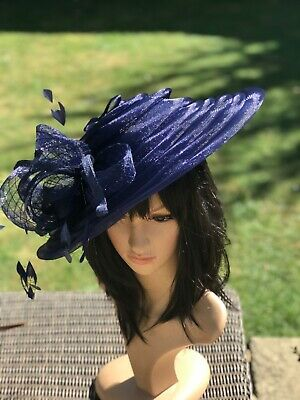 Peter Bettley French Navy Wedding Hatinator Hat Mother Of The Bride Occasion