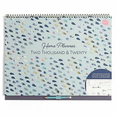 Boxclever Press Home Planner Calendar 2020 - Large Organised Sectioned Calendar