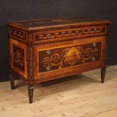 Dresser chest of drawers antique style Louis XVI furniture commode inlaid wood