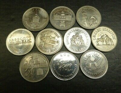 10 Canada Trade Dollars All Different