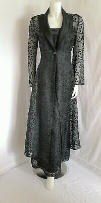 Dusk By Frank Usher Vintage Dress / Jacket Size 16 To Fit Size 10