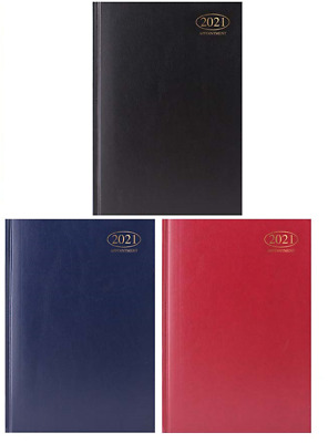 2020 Week To View A4 Appointment Diary Diaries Hardback Choose Colour Full Year