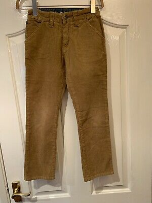 Genuine Boy's Barbour Cords Beige Excellent Condition 7-8 Years