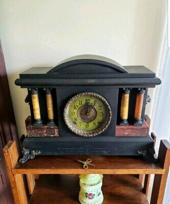 Ingraham ~ Mantel/Shelf ~ 8 Day Clock ~ Gongs on the Hour/Half Hour