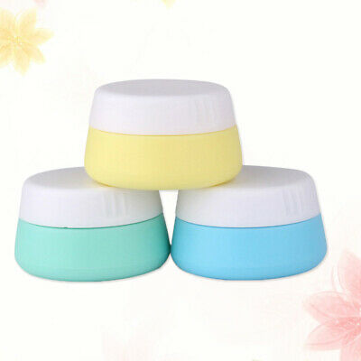 6pc Cosmetic Containers Silicone 10ml Facial Cream Jar Box with Sealed Lids Home