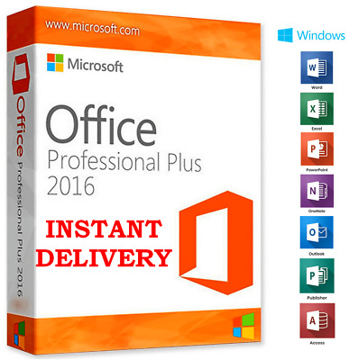🔥 Microsoft Office Professional Plus 2016 License Lifetime Instant Delivery 🔥