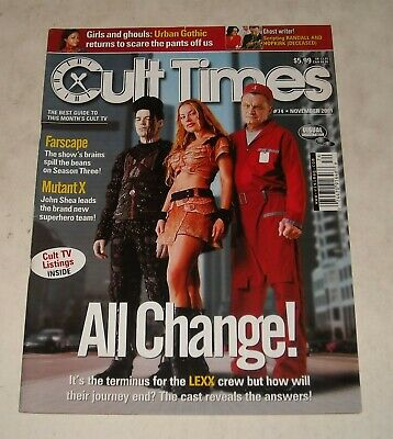 2001 Cult Times Magazine #74 Lexx Mutant X Farscape Urban Gothic Tv Listings