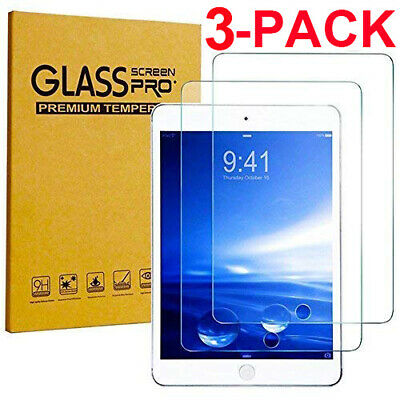 "3 Pack TEMPERED GLASS Screen Protector for Apple iPad 9.7"" 2018 6th Gen Air Air2"